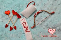 Elf CUPID Costume 6 Piece set Valentines Day by DaintyDimples
