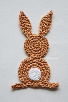 Crochet Applique Patterns Free, Baby Knitting Patterns, Crochet Motif, Crochet Flowers, Easter Crochet, Crochet For Kids, Crochet Baby, Free Crochet, Diy Crafts Crochet