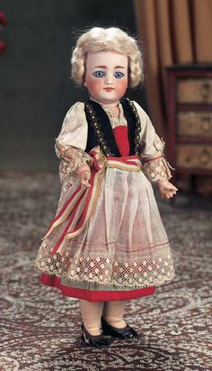 """Rare German Bisque Child,905,by Simon and Halbig with Closed Mouth 11"""" (28 cm.)"""