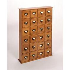 "Found it at cymax.com - 40"" 24-Drawer Storage Cabinet in Walnut"