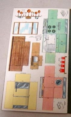 1959 Doll House Paper Dolls Golden Funtime.. check it out... paper furniture for paper dolls!