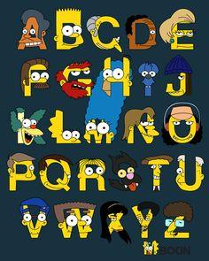 The Simpsons│ Los Simpson - - - - - - The Simpsons, Simpson Tumblr, Los Simsons, Simpsons Characters, Zeina, Alphabet Print, Baboon, Futurama, Favorite Tv Shows