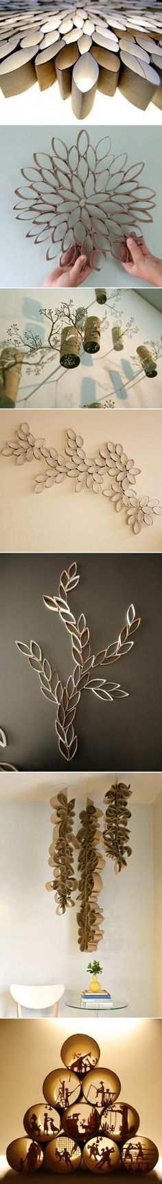 Diy idea how to make tutorial decorations with toilette paper rolls