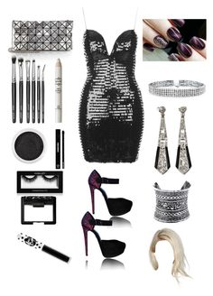 """""""Tessa ( new year party look )"""" by karabear3256 ❤ liked on Polyvore featuring Rare London, Bao Bao by Issey Miyake, NYX, Bare Escentuals, Edward Bess, Inglot, NARS Cosmetics, Lime Crime, Bling Jewelry and LULUS"""