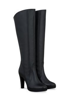 Black dress boots for skinny calves