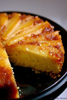 Pear Upside-Down Cake. Might have to make this for Tim