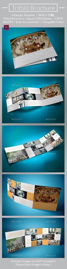 Travel Agency Trifold Brochure Brochure template, Brochures and - sample hotel brochure
