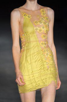 A is for Alexander McQueen: Paris Spring 2009 - detail.