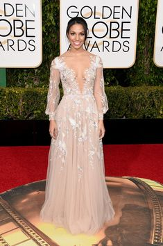 Corinne Foxx at the 2016 Golden Globes (Best Dressed Photos)