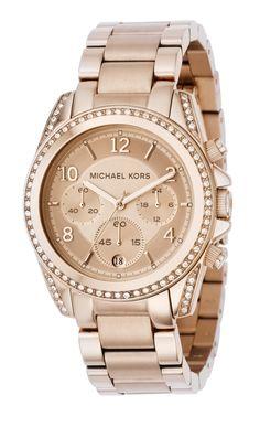 Michael Kors Damen-Armbanduhr Chronograph Quarz Edelstahl beschichtet MK5263