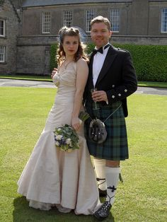 Homemade Scottish Wedding dress from Vogue Pattern 2931