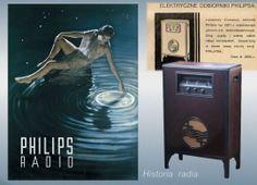 Firma: Philips, Holandia Model: 2601 Rok prod. 1930 + ówczesny plakat reklamowy firmy Odbiornik był jedynie w polskiej dystrybucji handlowej Philipsa. Był relatywnie najdroższym odbiornikiem sprzedawanym w międzywojennej Polsce. Cena: 2 500 zł.