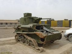 Vickers Mark VIB. Several World War II era tanks and armored vehicles were discovered on military bases during the Iraq War. This early war light tank likely patrolled the Persian Oil fields for the British.