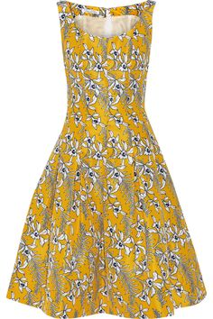 Shop on-sale Oscar de la Renta Pleated floral-print satin-twill dress. Browse other discount designer Dresses & more on The Most Fashionable Fashion Outlet, THE OUTNET.COM