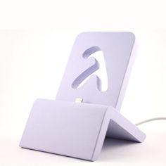 ArtDeco - iPhone Dock (Vintage Lilac) für iPhones 5/5S/6/6S/Plus/SE/7 mit und ohne Schutzhülle / Lightning Dock von lambdasign auf Etsy
