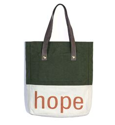 Every tote bag from Esperos gives a female student in Haiti one year's school tuition. Love this so much.