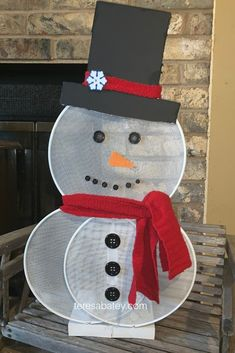 Dollar Tree Splatter Screen Snowman - Teresa Batey Lifestyle