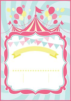Frame Design Cartão Arte Background Carnival Themed Party, Carnival Birthday Parties, Carnival Themes, Birthday Party Themes, Circus Background, Cartoon Background, Dumbo Birthday Party, Circus Birthday, Adult Circus Party