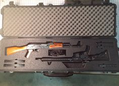 Pelican case and for a Norinko and BCM Ammo Storage, Pistol Case, Pelican Case, Lethal Weapon, Gun Cases, Custom Guns, Rifles, Cutlery, Locker