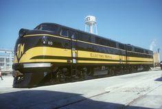 EMD diesel 103.  This was filmed at the La Grange EMD production facility.