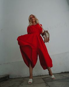 Red Jumpsuit, My Outfit, Wrap Dress, Outfits, Dresses, Fashion, Vestidos, Moda, Suits