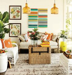 50 Energetic and colorful living room design ideas Kinda like everything about this room
