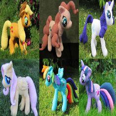 My Little Pony Crochet Patterns by NerdyKnitterDesigns on Etsy, $19.95