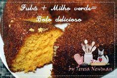 Receita de um delicioso e pratico Bolo de Milho verde, pode ser feito com o milho verde de latinha mesmo.