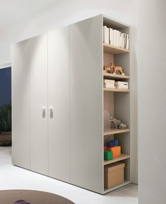 Wardrobe with shelves