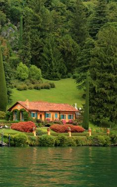 Beautiful Landscapes, Beautiful Gardens, Beautiful Homes, Beautiful Places To Travel, Wonderful Places, Trendy Home, Cottage Homes, Log Homes, My Dream Home