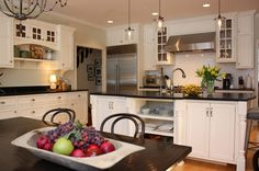 Farmhouse Kitchen | Remodeling | Cedarburg, United States, Custom, Renovation/Remodel, Kitchen, Modern, Transitional, Traditional, pendant lighting, recessed can lights