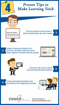 4 Proven Tips to Make Learning Stick - An Infographic