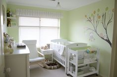 Green gender neutral room, Here is the nursery I created for my Son, his gender was a surprise until he was born, The room was already green...