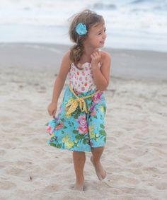 Robin's Egg Olive Dress - Infant, Toddler & Girls by Magpie & Mabel #zulilyfinds
