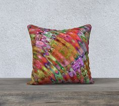 The Ripple Effect III, Blood Orange - Pillow Cover, Square, 18x18