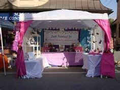 Outdoor Craft Show Display Ideas & Would help renfaire it up some with green table clothes and brown ...