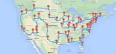 Michigan State University computer science graduate Randal S. Olson used his Where's Waldo algorithm to create the optimal map of a road trip across the United States that hits landmarks in all 48 ...