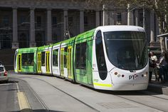 Melbourne Tram...Melbourne has the largest tram network in the world. Melbourne, Victoria, is the only city in Australia with an entire public transport network system of trams....Trams have right of way, all traffic gives way to trams....