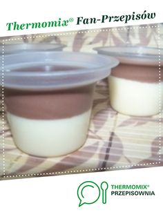 Deser czekoladowo-śmietanowy, coś jak Monte :-) jest to przepis stworzony przez użytkownika ElaK. Ten przepis na Thermomix<sup>®</sup> znajdziesz w kategorii Przepisy dla najmłodszych na www.przepisownia.pl, społeczności Thermomix<sup>®</sup>. Glass Of Milk, Panna Cotta, Food And Drink, Pudding, Drinks, Ethnic Recipes, Desserts, Thermomix, Tailgate Desserts
