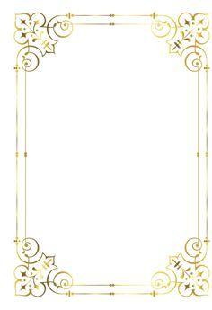 Gold frame, Golden, Frame, Pattern PNG Image and Clipart Page Borders Design, Border Design, Border Pattern, Borders For Paper, Borders And Frames, Wedding Cards, Wedding Invitations, Invitation Background, Writing Paper