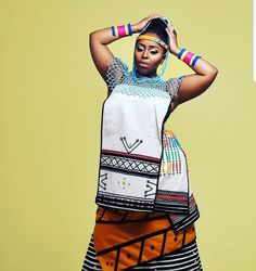 Traditional Dresses Designs, Traditional African Clothing, Traditional Clothes, Traditional Fashion, Xhosa Attire, African Attire, African Dress, African Design, Clothing Styles