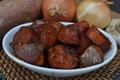 Yesterday when we picked up our co op basket, I saw that there were 6 yams and two onions. I thought that they may work well in the crock pot. So I gave it a try and they turned out to be a delicious little side dish! Not to mention it was super simple. IRead More