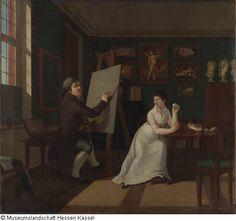 Robert, Ernst Friedrich F. Invent 1875/1303 1807, Selbstporträt mit seiner Frau im Atelier