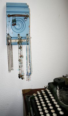 Jewelry Hanger Made from Repurposed Items by rustmagnet on Etsy, $22.00