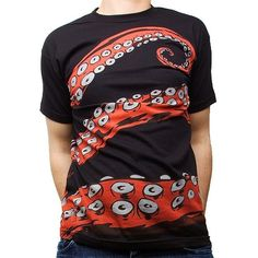 Handmade Gifts | Independent Design | Vintage Goods Tentacles Tee - Mens - Geek Chic