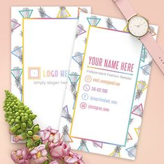 Pineapple Vertical Lularoe Business Cards Free Personalize Home