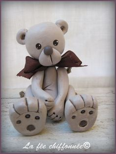 ours en argile