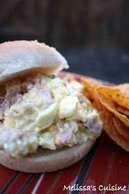 Melissa's Cuisine: Ham and Egg Salad- perfect for a summer lunch or picnic