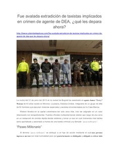 Fue avalada extradición de taxistas implicados en crimen de agente de DEA, qué les depara ahora? http://ww...
