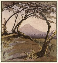 'Mount Orizaba'. by Helen Hyde.    The trees frame the mountain, but is the subject the mountain, or the trees?